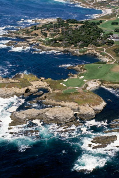 01: Cypress Point – Loch 16 • 213 Meter • Greenfee: Träum weiter!