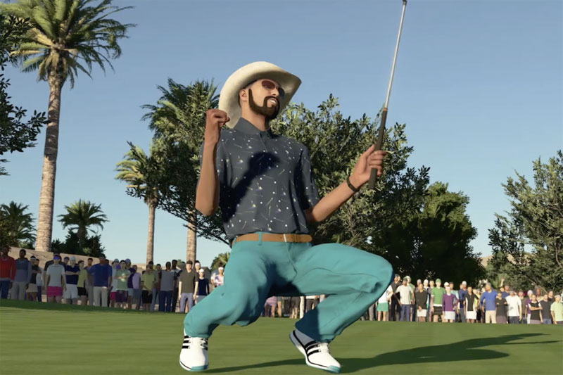 PGA TOUR 2K21: Cross-over: Greg Norman meets Éric Cantona
