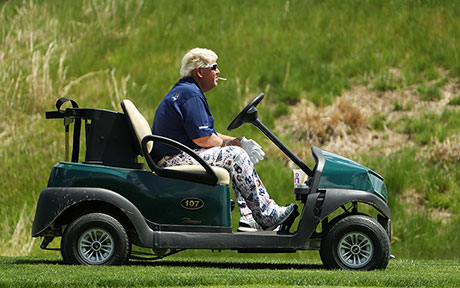 John Daly in Bethpage: Cart, Coke und Kippen
