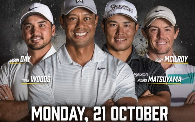 'The Challenge: Japan Skins' mit Woods, McIlroy, Matsuyama und Day